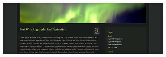Aurora WordPress Template