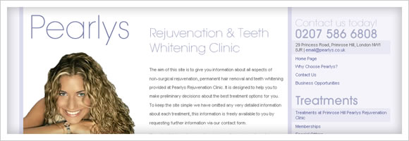 Pearlys Teeth Whitening London